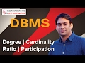 Database Management System 08 Degree Cardinality Ratio and Participation