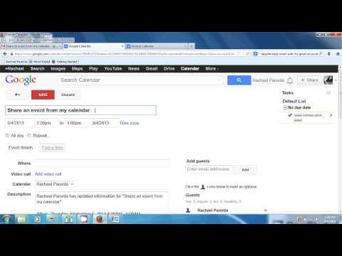 How to Create a Calendar Event Via Google Email : Computer Topics