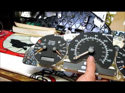 1996 Mercedes W202 C-220 Gauge Cluster Failure! How To Video on  Fixing your Instrument Cluster.