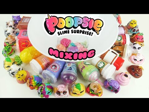 Poopsie Slime Surprise MIXING ENTIRE COLLECTION + Unicorn Slime   Toy Caboodle