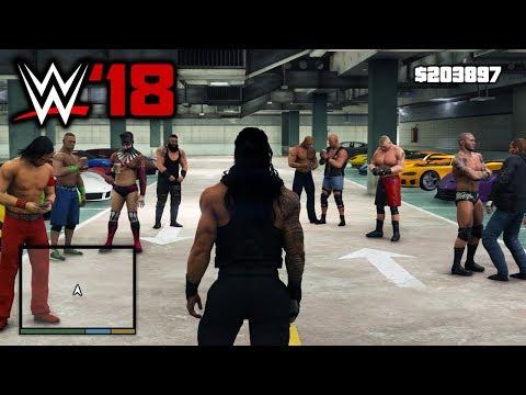 What If Rockstar Games Made WWE 2K18... (GTA 5 WWE Mods)