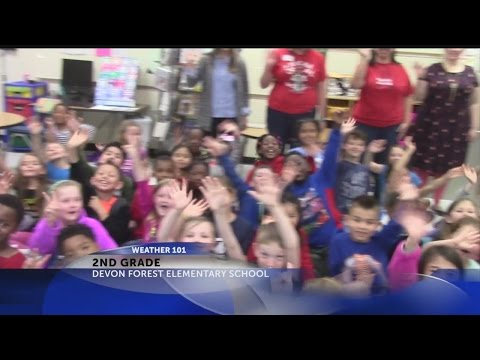 Rob Fowler visits Devon Forest Elementary School 2nd grade for Weather 101