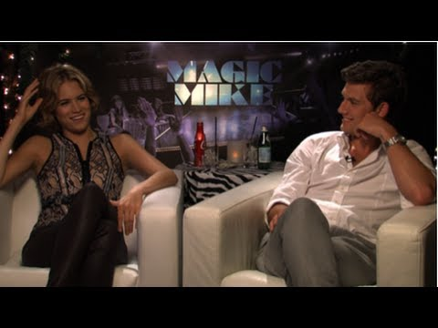 Alex Pettyfer and Cody Horn Talk Facing Fears and Sneaking on Set  Magic Mike