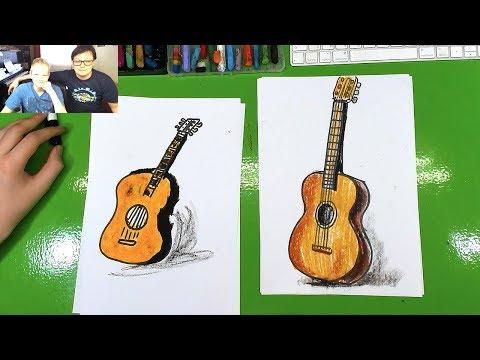 Как нарисовать музыкальные инструменты карандашом