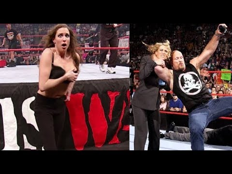 Stone Cold tries to attack the girl WWE director Stephanie McMan thumbnail