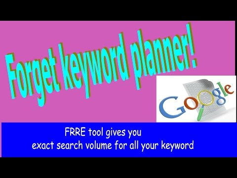 keyword planner alternative 2017 - here is a FREE tool to get exact search volume