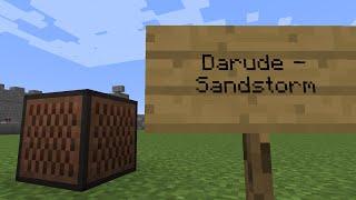 darude sandstorm minecraft note block remake