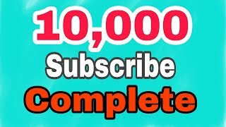 10,000 Subscribe Complete today My channel | by HS Sports 13