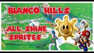 Super Mario Sunshine: Bianco Hills ALL Shine Sprites (Solimar Plays)