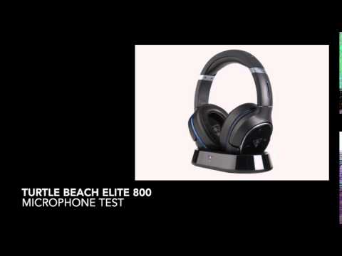 turtle beach elite 800 wireless headset microphone test. Black Bedroom Furniture Sets. Home Design Ideas