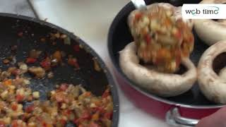 Рецепт фаршированных грибов. Ресторан Кипарис, г. Беер Шева.