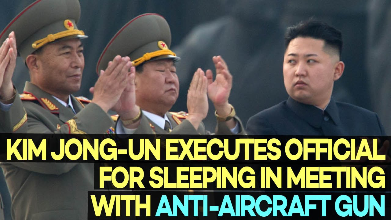 Kim Jong-un ordered to shoot the dozing off minister of the armed forces 05/13/2015 11