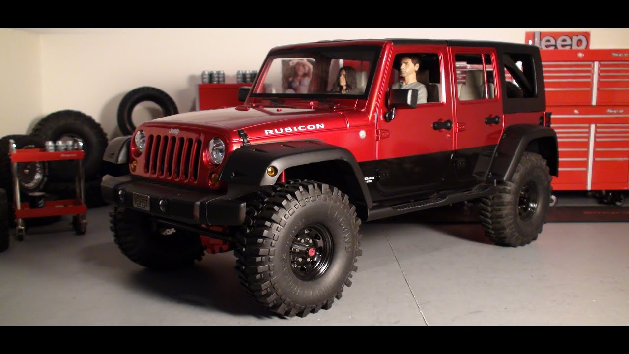 custom jeep jk wrangler unlimited hardbody scale rc truck - video