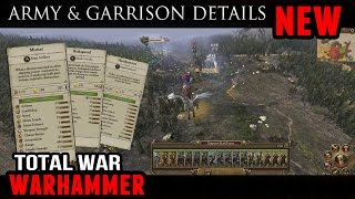 Total War: Warhammer - Empire army, garrison and fortification details