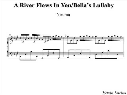 River Flows In You Piano Sheet Music Pdf - river flows in you slow ...