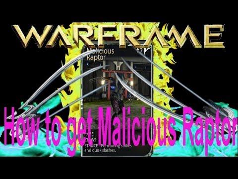 Warframe 13 How To Get Malicious Raptor Stance Mod + Venka