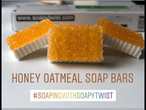 DIY : Honey Oatmeal Soap Bars, Homemade Soap