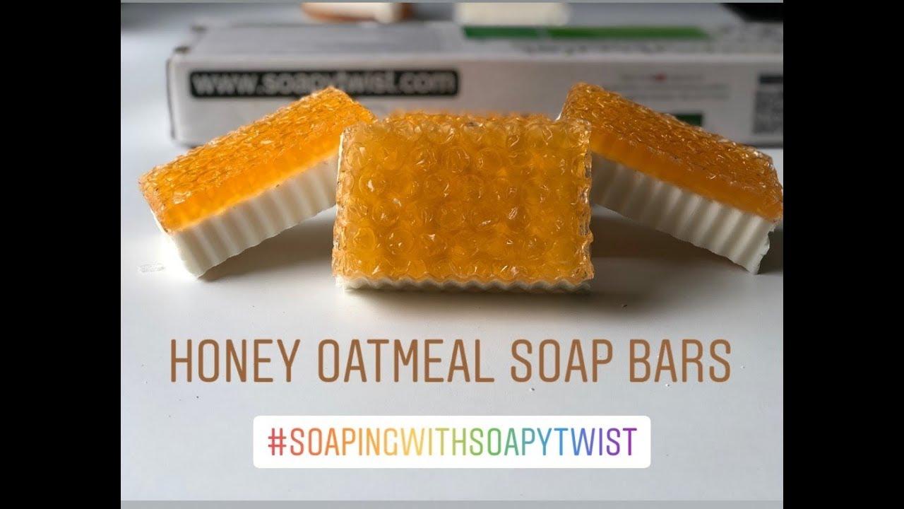 DIY : Honey Oatmeal Soap Bars, Homemade