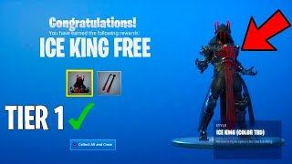 """How TO GET """"ICE KING SKIN"""" Without TIER 100 in Fortnite"""