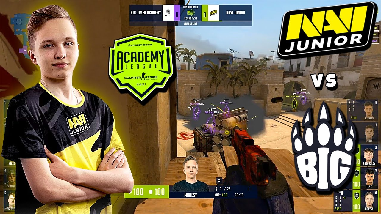 ТУРНИР ДЛЯ АКАДЕМИЙ! NA'VI JUNIOR vs BIG ACADEMY - WePlay Academy League | CS:GO