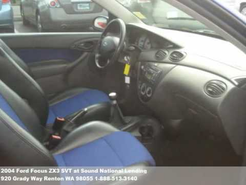 2004 Ford Focus ZX3 SVT, $8771 at Sound National Lending in Renton, WA