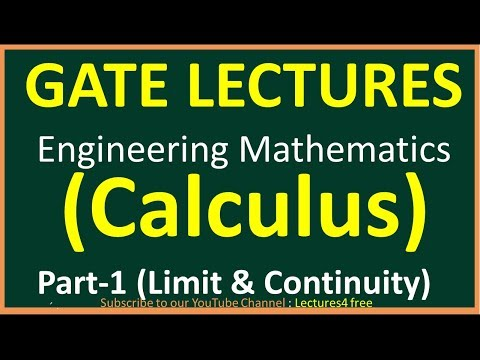 Calculus Part-1 (Limit & Continuity) || Engineering Mathematics For GATE Lecture