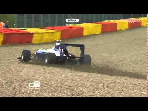 GP3 2014 Spa Francorchamps Carmen Jordá goes off