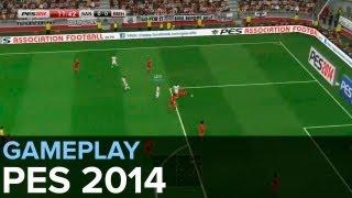 PES 2014 - Gameplay Santos vs Bayern
