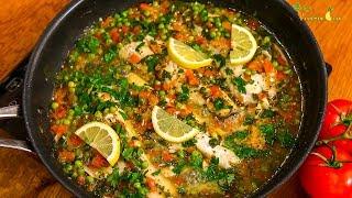 Рыба с овощами по испански