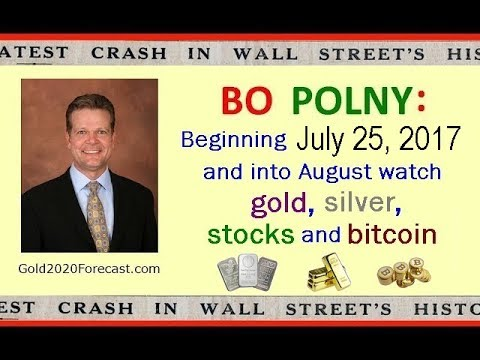 Bo Polny: Beginning July 25, 2017 and into August Watch Gold, Silver, Stocks and Bitcoin