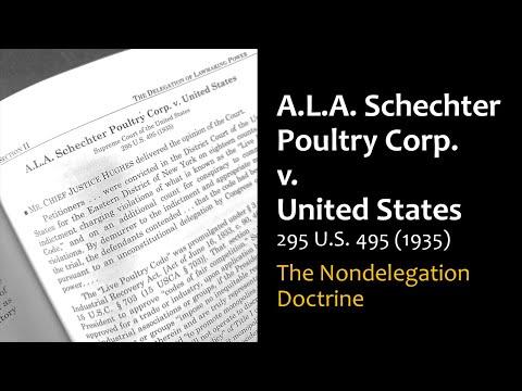 A.L.A. Schechter Poultry Corp. v. United States - Nondelegation Doctrine