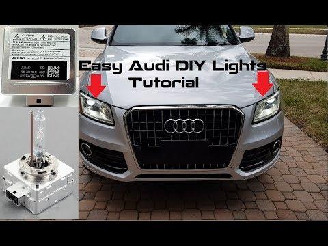 Easy DIY Tutorial: Install New oem D3S HID Bulbs on Audi Q5, Q7 & SQ5 Xenon Headlights (2013 – 2017)