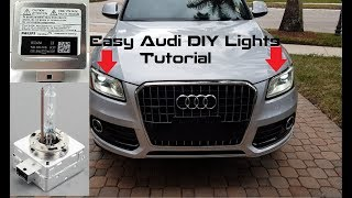 Easy DIY Tutorial: Install New oem D3S HID Bulbs on Audi Q5, Q7 & SQ5 Xenon Headlights (2013 - 2017)