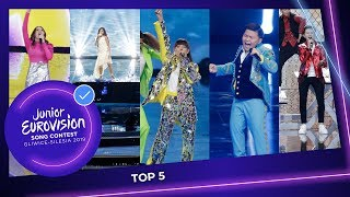 The TOP 5 of the Junior Eurovision Song Contest 2019!