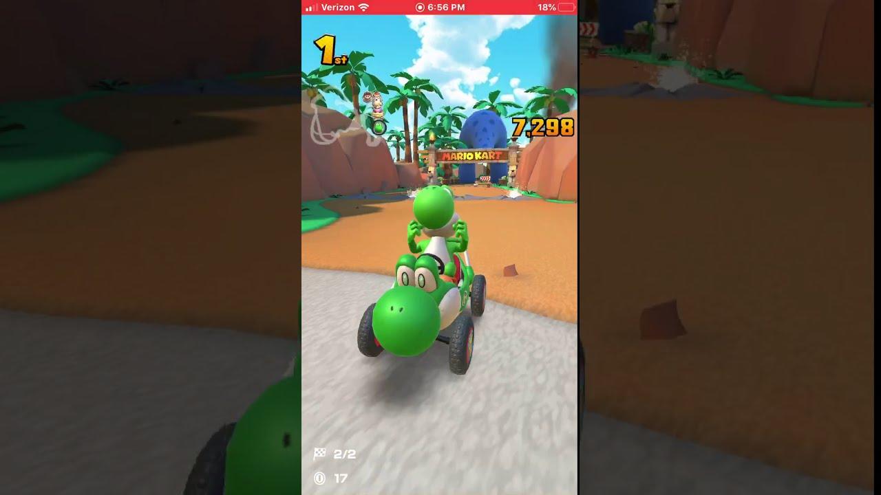 scm95 mario kart tour yoshi gameplay  youtube