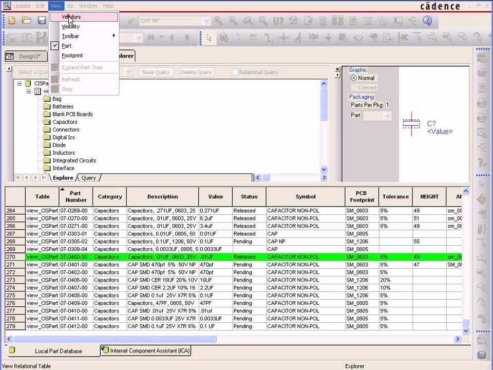 Utilizing Relational Database Support in OrCAD Capture CIS on