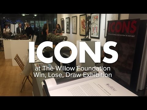 ICONS at the Willow Foundation Win, Lose, Draw exhibition