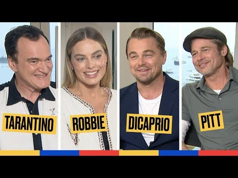 Avec Tarantino et le casting de Once Upon A Time In Hollywood