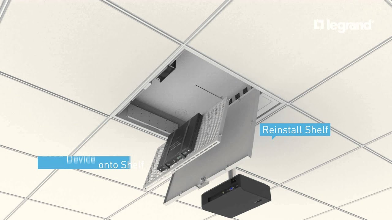 Wiremold Evolution Ceiling Box Pivoting And Removable Shelf Youtube