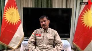 haeder shesho on yezidi flag and yezidi unit by yezidis organization