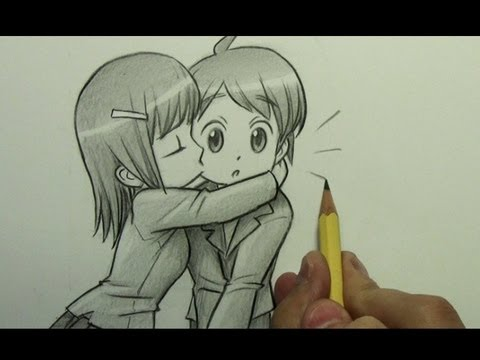 How to Draw a Chibi Kiss On the Cheek