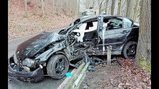Rozbite samochody z Niemiec wybite poduchy wstawione ćwiartki  czy warto część 1