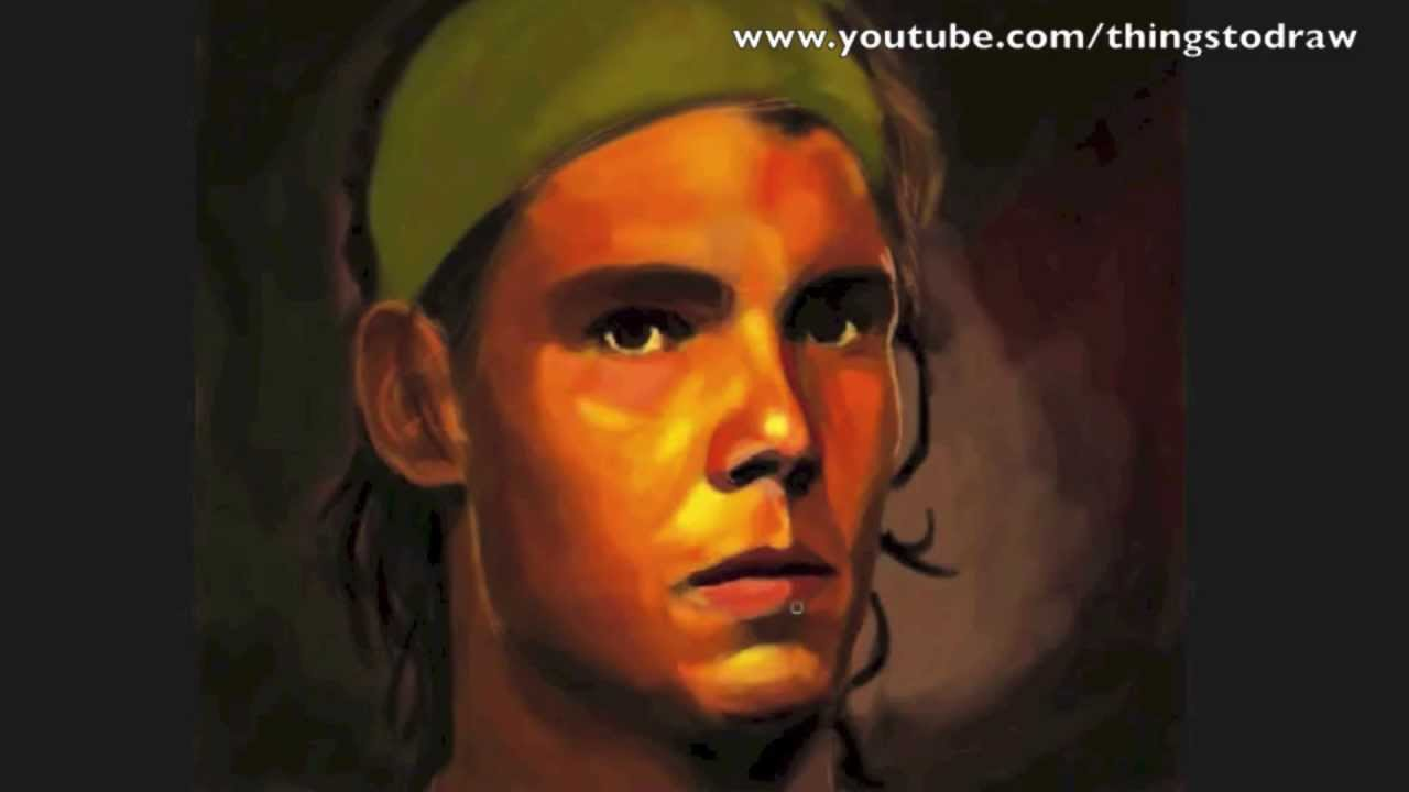 How To Draw A Face : Rafa Nadal Portrait Things To Draw