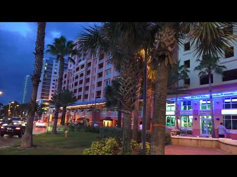 Beach Nightlife, Clearwater Beach - Florida 2017 - Vlog