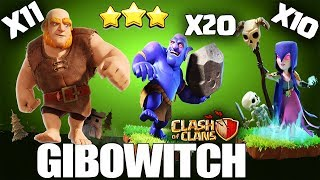 Giants Event Th11 3 STAR ATTACK GIBOWITCH Without QueenWalk | GIBOWLER WITCH CLASH OF CLANS