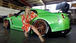 PORNSTAR Mareike Fox her new Pandem Rocket Bunny V2 Nissan GT-R!
