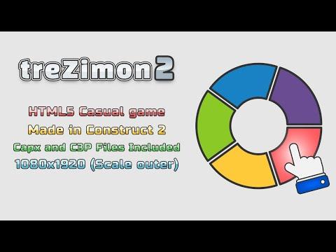 TreZimon2 - HTML5 Game - Demo View