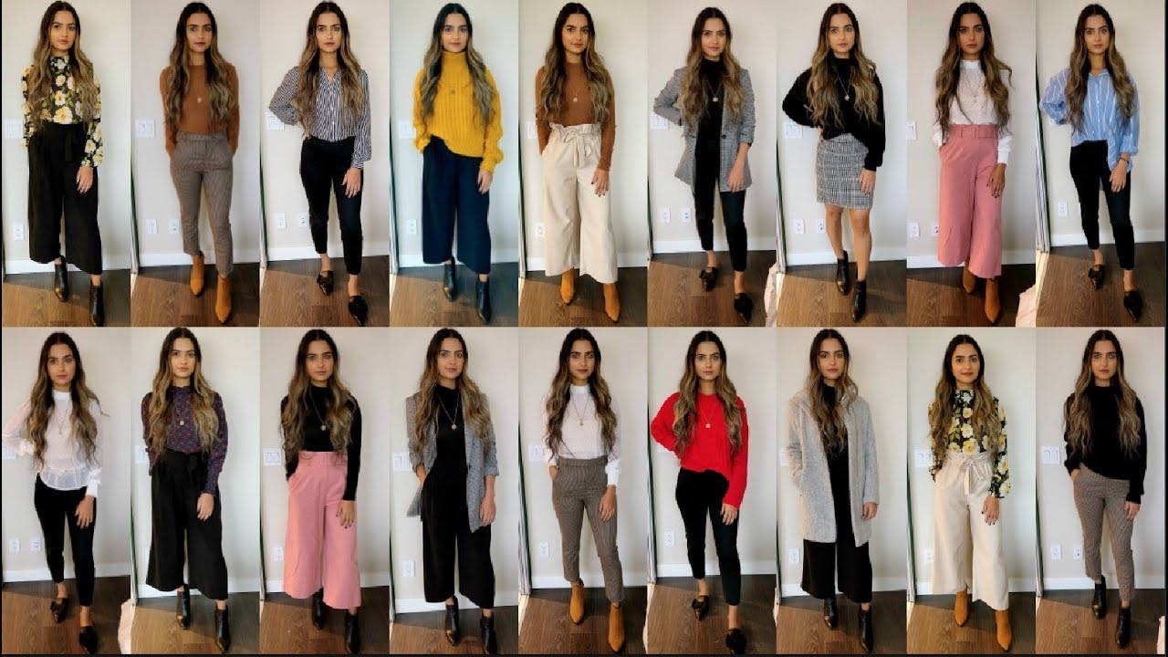 [VIDEO] - 1 MONTH OF WORK OUTFIT IDEAS| PROFESSIONAL OFFICE WEAR LOOKBOOK Preet Aujla 4