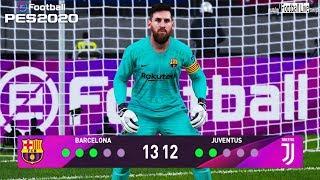 PES 2020   goalkeeper L.MESSI vs goalkeeper C.RONALDO   Penalty Shootout   Barcelona vs Juventus