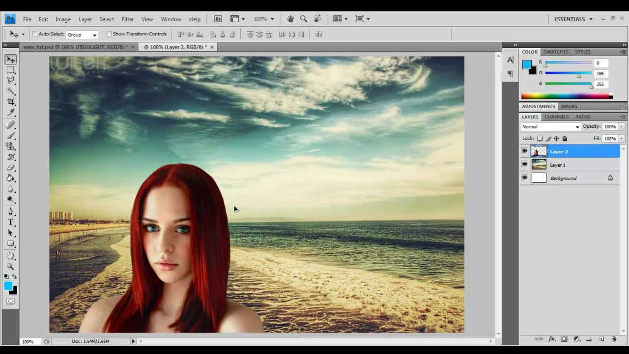 How to insert photos in Photoshop (Photoshop)
